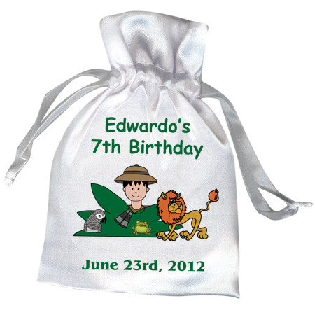 Jungle or Safari Party Favor Bag - Boy