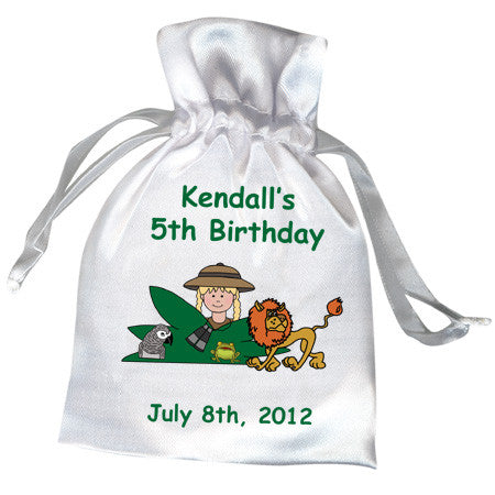 Jungle or Safari Party Favor Bag - Girl
