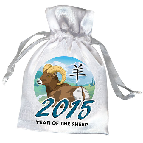 Chinese Zodiac Year of the Sheep, Ram or Goat 2015 Favor Bag