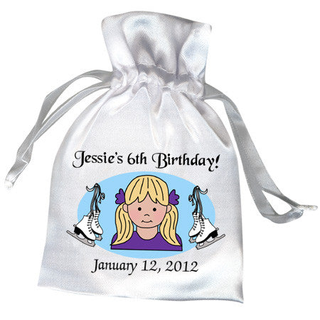 Ice Skating Girl Favor Bag