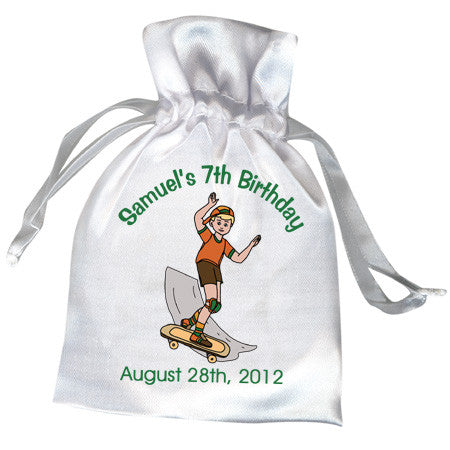 Skateboard Birthday Party Favor Bag - Boy