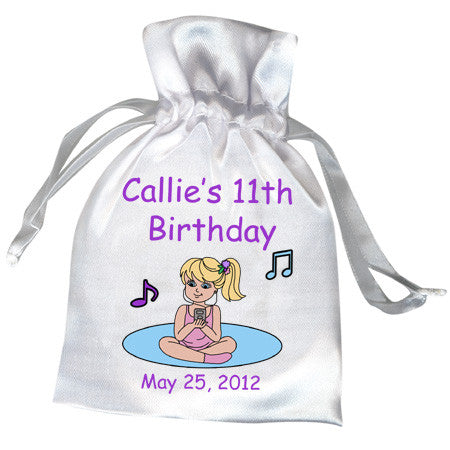 Sleepover Birthday Party Favor Bag for girls, personalized