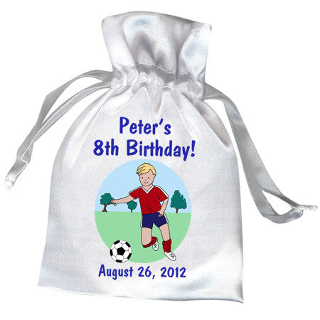 Soccer Player Kids Birthday Party Favor Bag - Boy