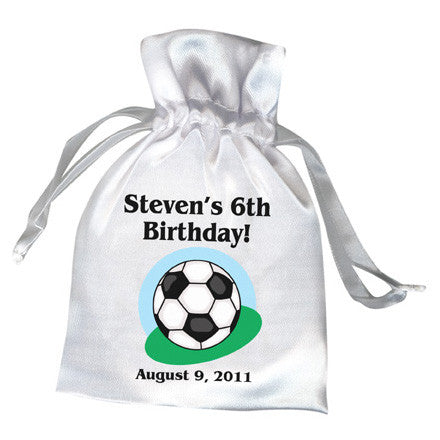 Soccer Ball Birthday Party Favor Bag