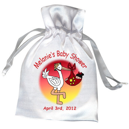 Adoption Stork Favor Bag - Girl (33 countries)
