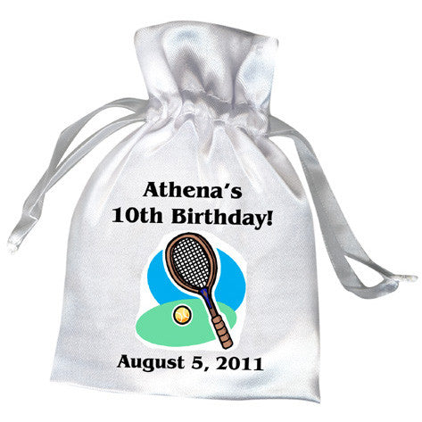 Tennis Racket Birthday Party Favor Bag