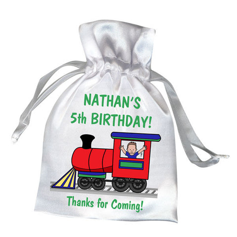 Train Party Favor Bag - Boy