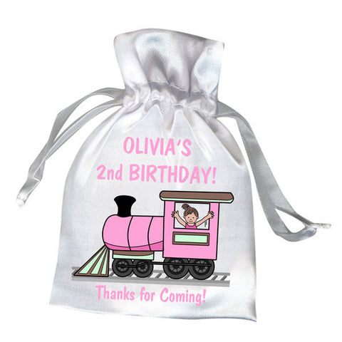 Train Party Favor Bag - Girl