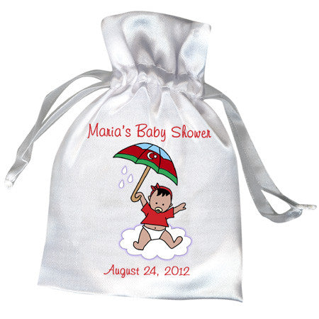 International Umbrella Baby Adoption Shower Favor Bag - Girl