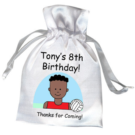 Volleyball Kid Personalized Birthday Party Favor Bag - Boy