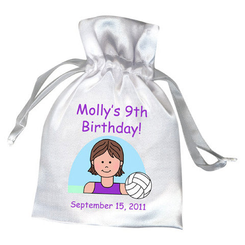 Volleyball Kid Birthday Party Favor Bag - Girl