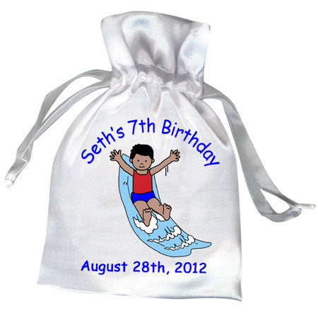 Water Slide Birthday Party Favor Bag - Boy