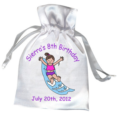 Water Slide Birthday Party Favor Bag - Girl