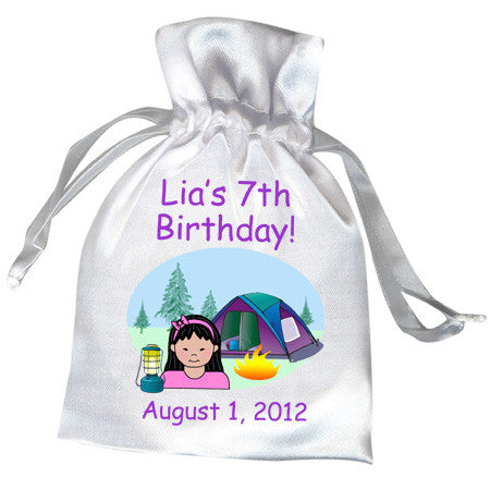 Camping Kid Party Favor Bag - Girl