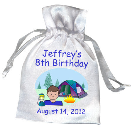 Camping Kid Party Favor Bag - Boy
