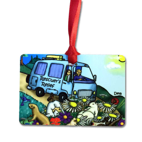 Rescuer's Relief Aluminum Ferret Rescue Ornament