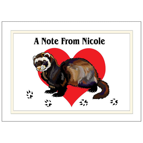Ferret Love Note Cards