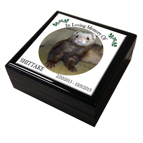 Ferret Memorial Tile Keepsake Box