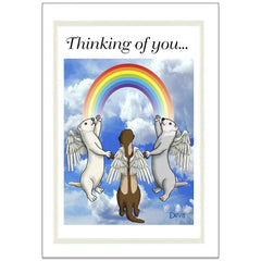 Ferret Rainbow Bridge Sympathy Cards - Design 2