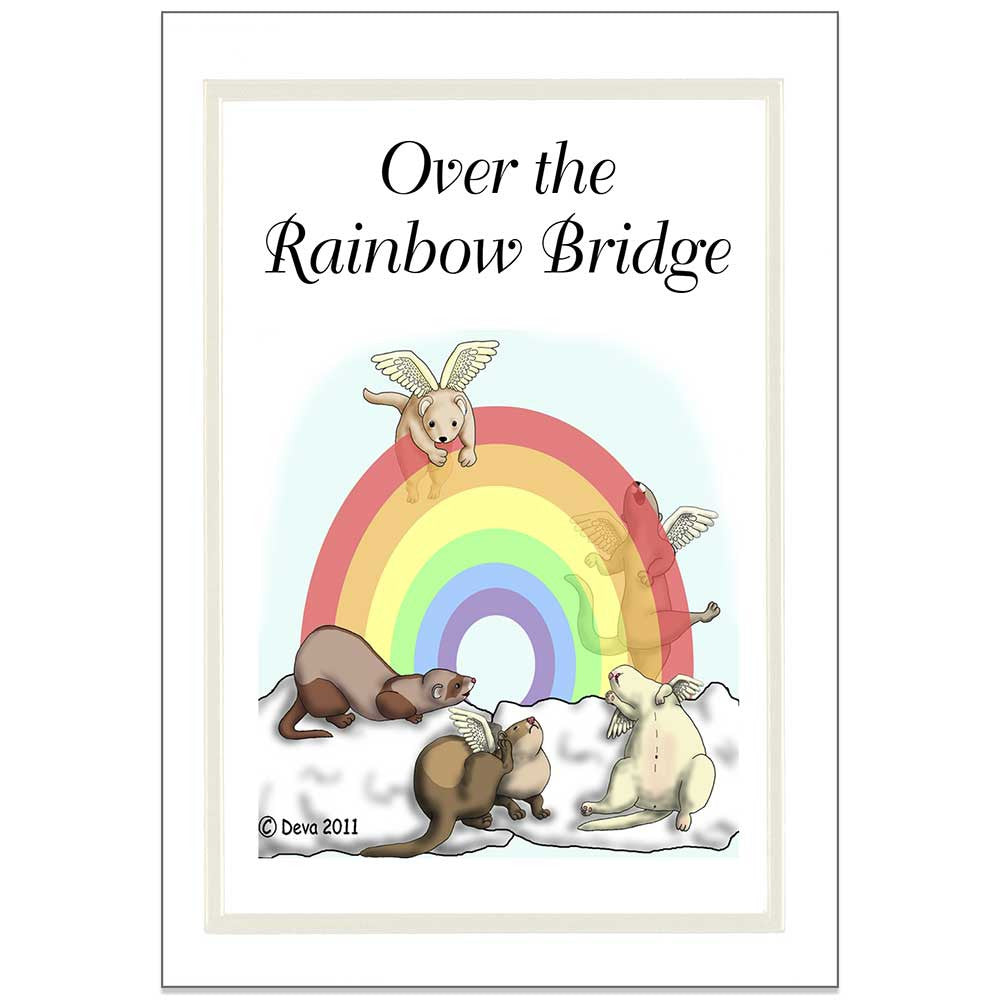 Ferret rainbow bridge sympathy note cards pack of 6 mandys moon 999 thecheapjerseys Choice Image