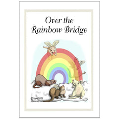 Ferret Rainbow Bridge Sympathy Cards - Design 3