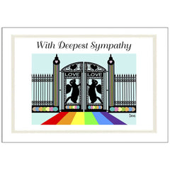 Ferret Rainbow Bridge Sympathy Cards - Design 6