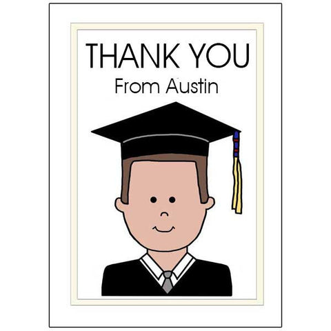 Graduation Thank You Notes - Cartoon boy or man