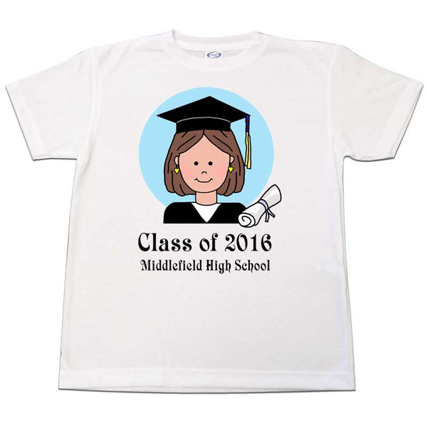 Personalized Graduation T-Shirt - Girl or Woman