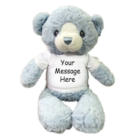 "Personalized Teddy Bear - 15"" Blue Huggy Bear"