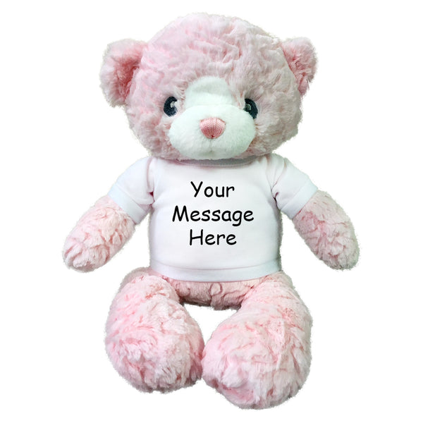 "Personalized Teddy Bear - 15"" Pink Huggy Bear"