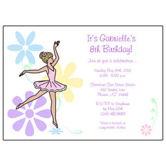 Personalized Birthday Party Invitations for Girls