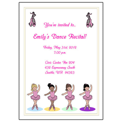 Ballet or Dance Recital or Party Invitation