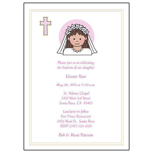 First Communion Or Confirmation Invitation Girl Mandys Moon