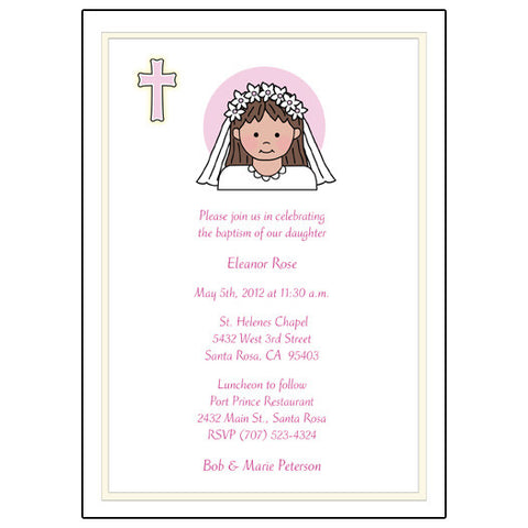 First Communion or Confirmation Invitation - Girl
