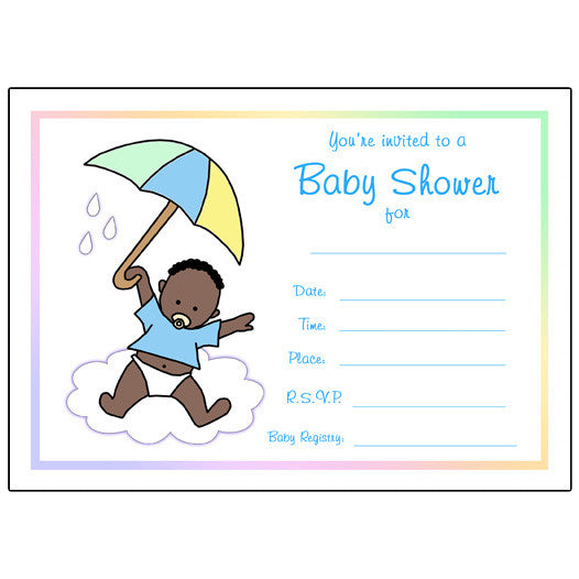 blank girl baby shower invitations