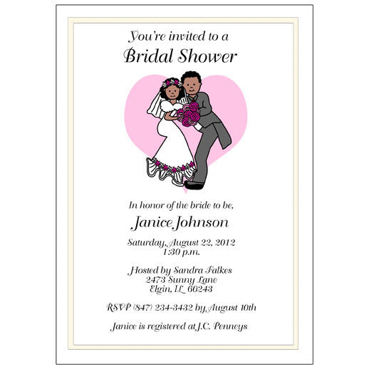 Forever Love Wedding or Bridal Shower Invitation