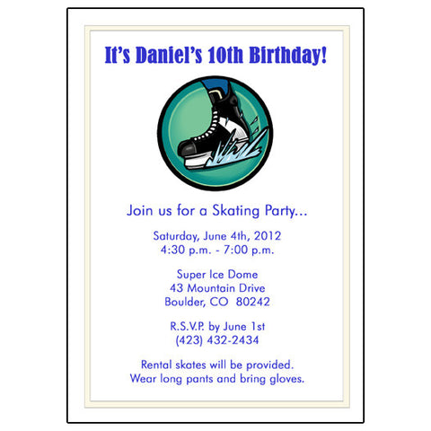 Ice Hockey Birthday Party Invitations and Favors Mandys Moon