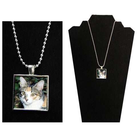 Pet Photo Pendant Necklace -  Mother of Pearl Jewelry