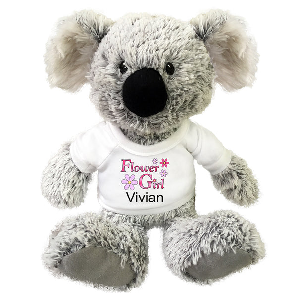 "Flower Girl Teddy Bear -  Personalized 12"" Koala"