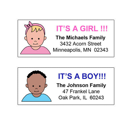 It's a Boy or It's a Girl Return Address Labels