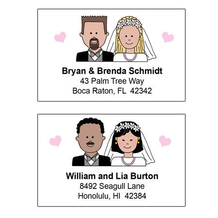 Happy Couple Address Labels