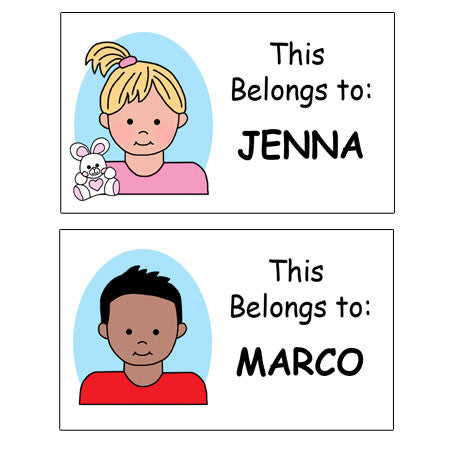 Personalized Cartoon Kids Labels