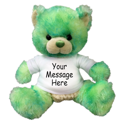 Personalized Green Teddy Bear