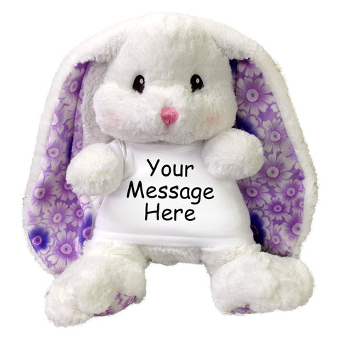 Personalized Stuffed Rabbit - 13 inch Aurora Lopsie Wopsie Bunny