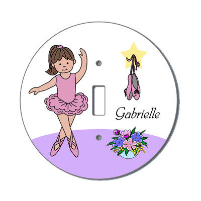 Ballet or Dance Light Switch Cover - Ballerina Design