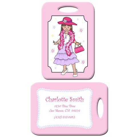 Dress Up Girl Bag Tag