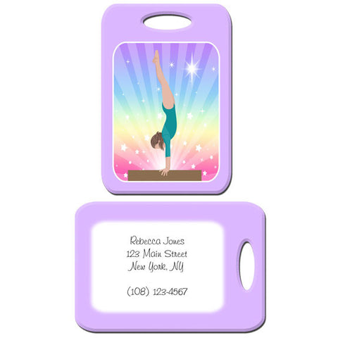 Gymnastics Dreams Bag Tag - Beam Design