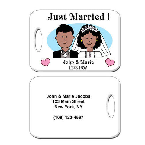 Happy Couple Bag Tag
