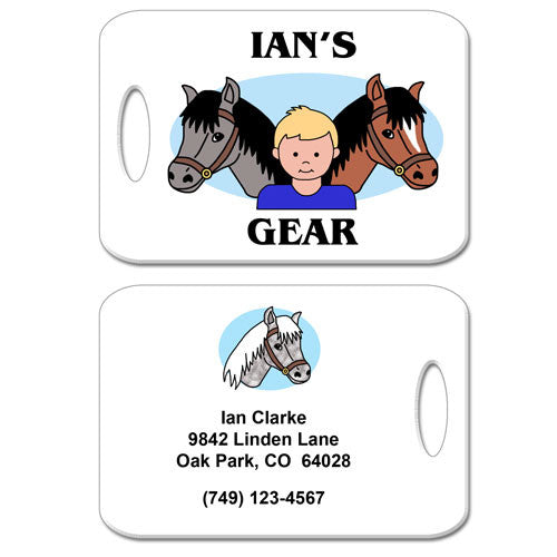 Horse Kid Bag Tag - Boy