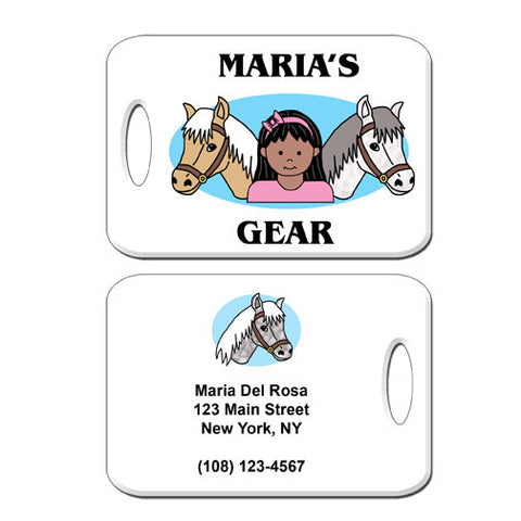 Horse Kid Bag Tag - Girl
